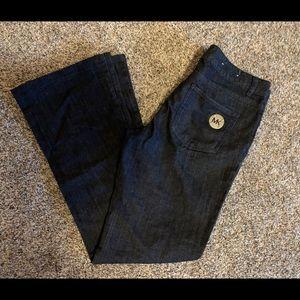 Michael Kors Trouser Bootcut Jeans Sz 4 Dark Denim